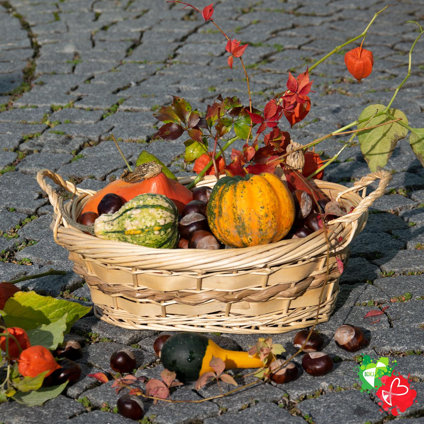 Ein Korb voller Herbstideen
